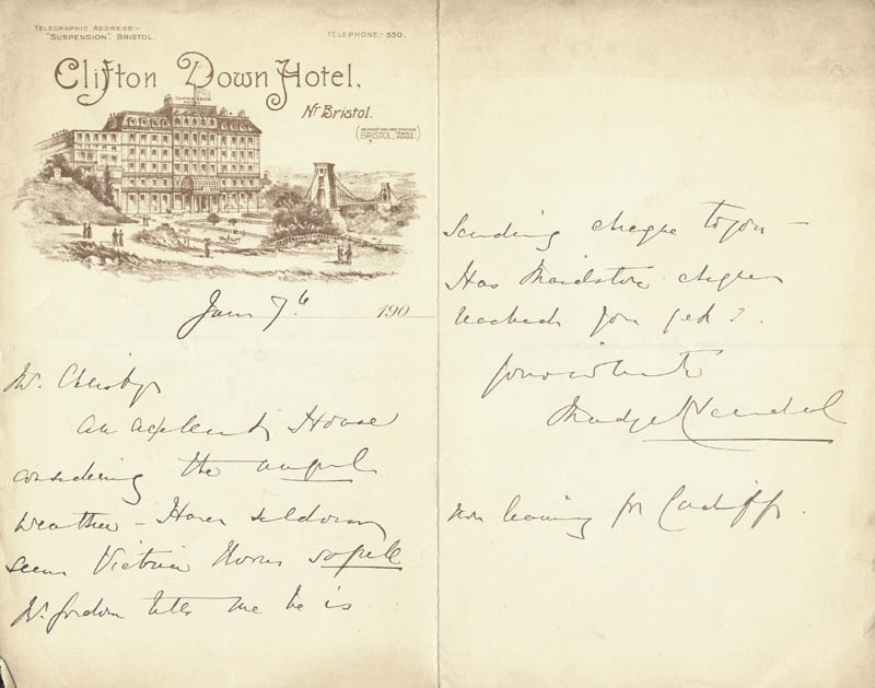 Image 1 for Madge Kendal - Autograph Letter Signed 6/7 - HFSID 206357