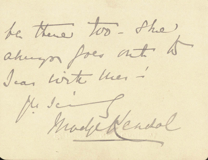 Image 1 for Madge Kendal - Autograph Letter Signed - HFSID 206363