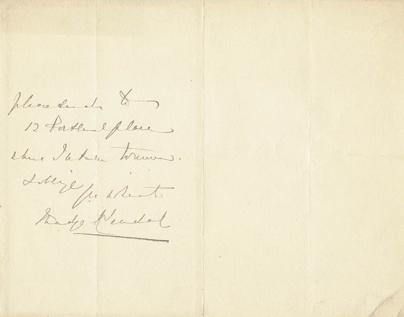 Image 1 for Madge Kendal - Autograph Letter Signed - HFSID 206372