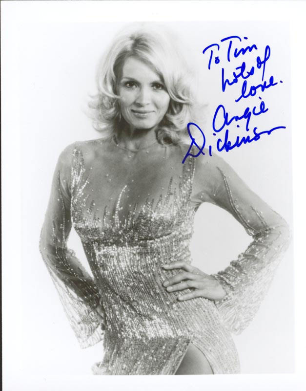 Image 1 for Angie Dickinson - Autographed Inscribed Photograph - HFSID 206419