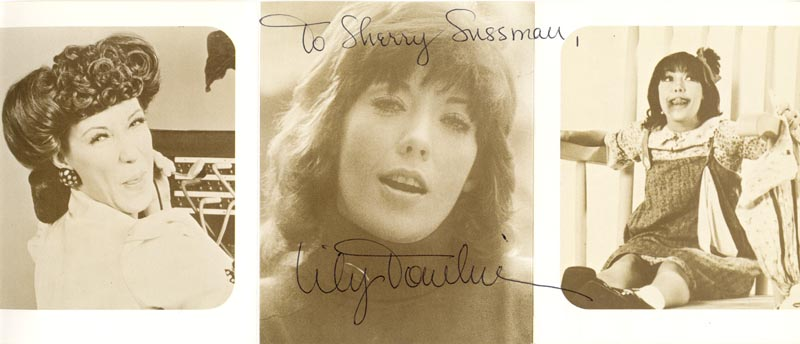 Image 1 for Lily Tomlin - Autographed Inscribed Photograph - HFSID 206451