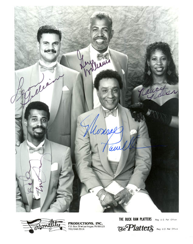 Image 1 for The Platters - Inscribed Printed Photograph Signed In Ink with co-signers - HFSID 206488