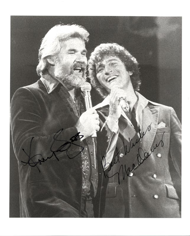 Image 1 for Kenny Rogers - Autographed Signed Photograph co-signed by: Mac Davis - HFSID 206489