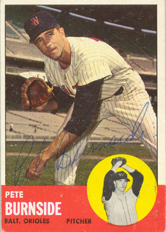 Image 1 for Pete Burnside - Trading/Sports Card Signed - HFSID 20658
