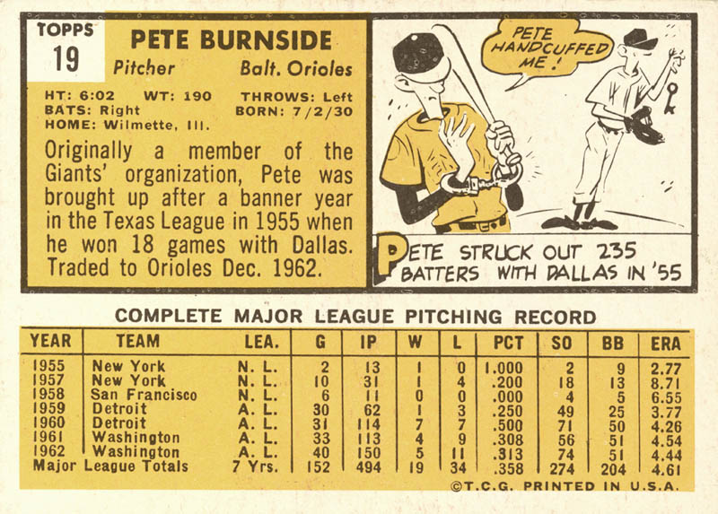 Image 3 for Pete Burnside - Trading/Sports Card Signed - HFSID 20658