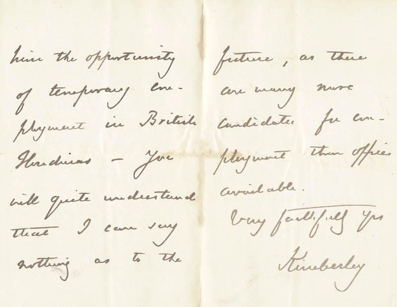 Image 1 for John (Earl Of Kimberley) Wodehouse - Autograph Letter Signed 04/30/1882 - HFSID 206806