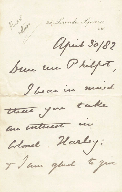 Image 3 for John (Earl Of Kimberley) Wodehouse - Autograph Letter Signed 04/30/1882 - HFSID 206806