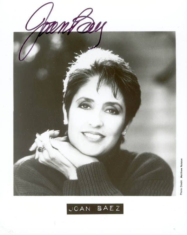 Image 1 for Joan Baez - Autographed Signed Photograph - HFSID 206979