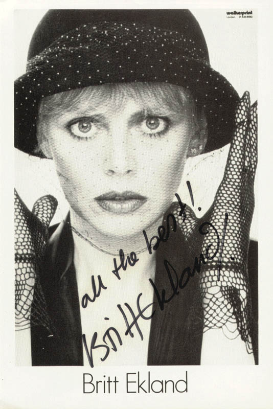Image 1 for Britt Ekland - Autographed Signed Photograph - HFSID 206996