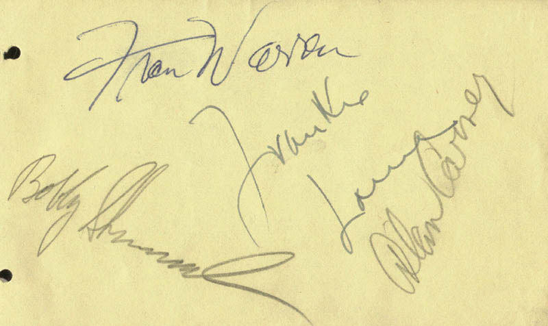 Image 1 for Frankie Laine - Autograph co-signed by: Fran Warren, Alan Carney - HFSID 207171