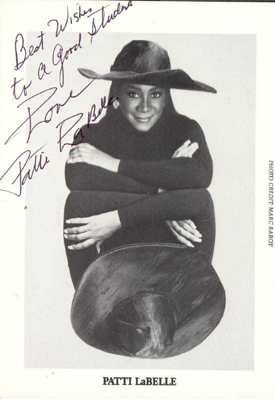 Image 1 for Patti Labelle - Autographed Inscribed Photograph - HFSID 207172
