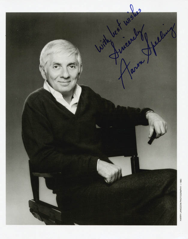 Image 1 for Aaron Spelling - Autographed Signed Photograph - HFSID 207535
