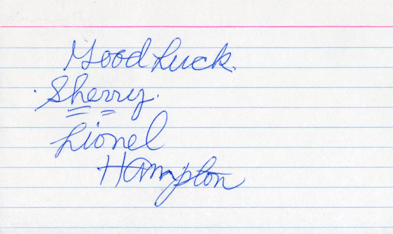 Image 1 for Lionel Hampton - Autograph Note Signed - HFSID 208183