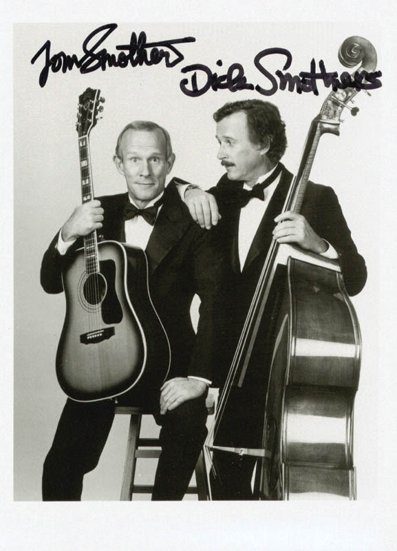 Image 1 for The Smothers Brothers - Autographed Signed Photograph co-signed by: Smothers Brothers (Dick Smothers), Smothers Brothers (Tom Smothers) - HFSID 208275