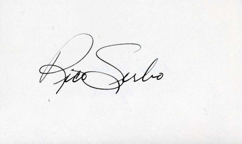 Image 1 for Rico Serbo - Autograph - HFSID 208577