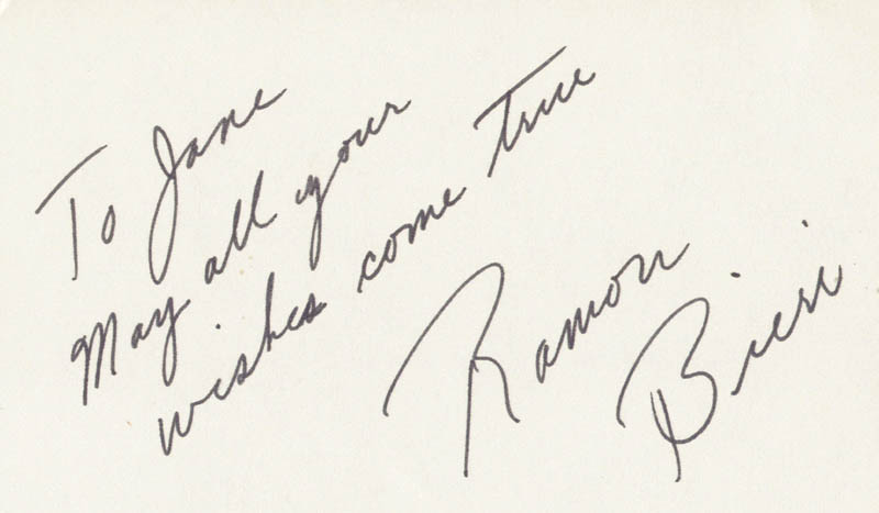 Image 1 for Ramon Bieri - Autograph Note Signed - HFSID 208588