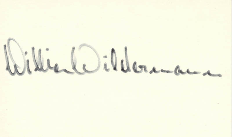 Image 1 for William Wildermann - Autograph - HFSID 208638