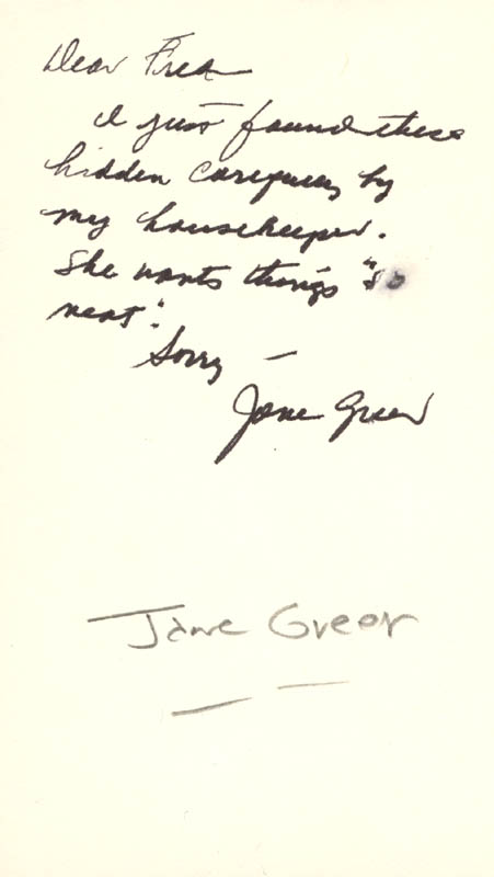 Image 3 for Jane Greer - Autograph Letter Double Signed - HFSID 208715