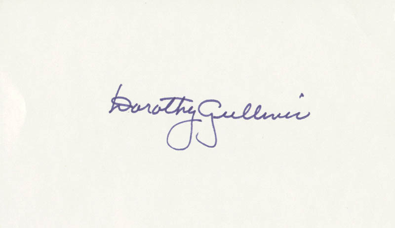 Image 1 for Dorothy Gulliver - Autograph - HFSID 208719