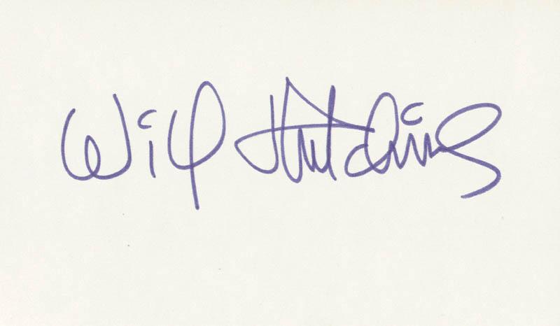 Image 1 for Will 'Sugarfoot' Hutchins - Autograph - HFSID 208744
