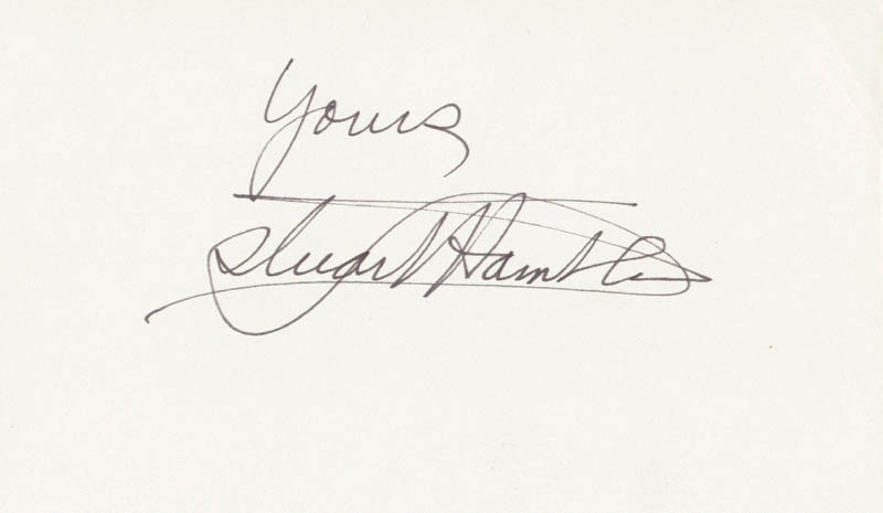 Image 1 for Stuart Hamblen - Autograph Sentiment Signed - HFSID 208765