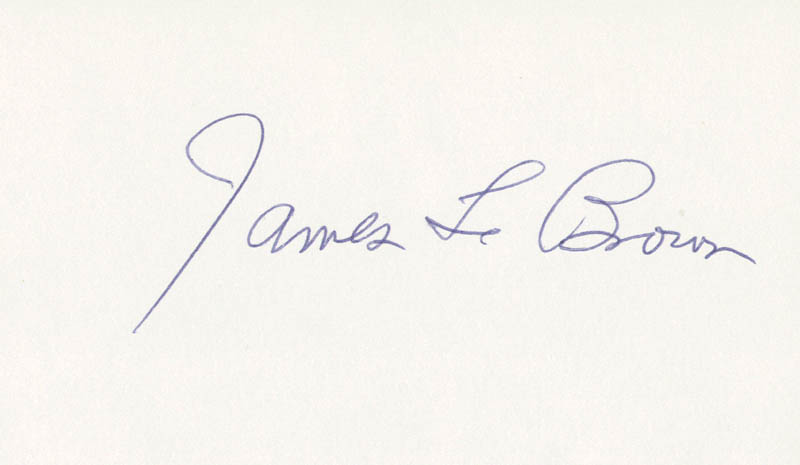 Image 1 for James L. 'Rip' Brown - Autograph - HFSID 208964