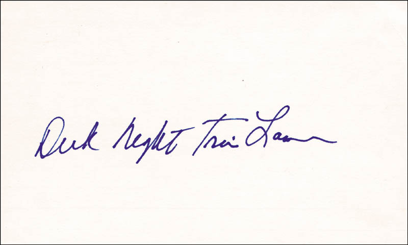 Image 1 for Richard 'Night Train' Lane - Autograph - HFSID 209067