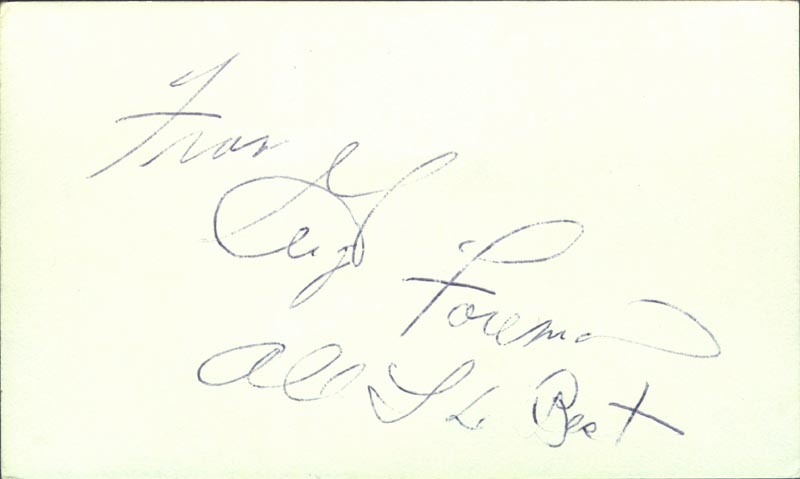 Image 1 for George Foreman - Autograph Sentiment Signed - HFSID 209095