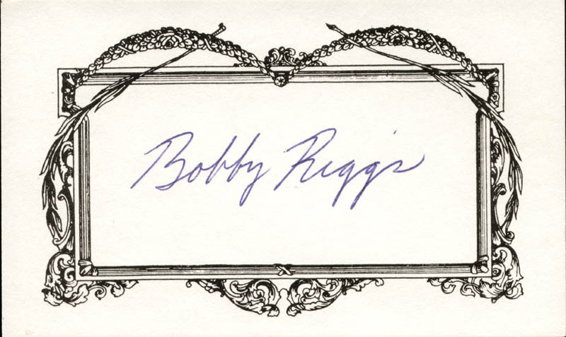 Image 1 for Bobby Riggs - Autograph - HFSID 209167