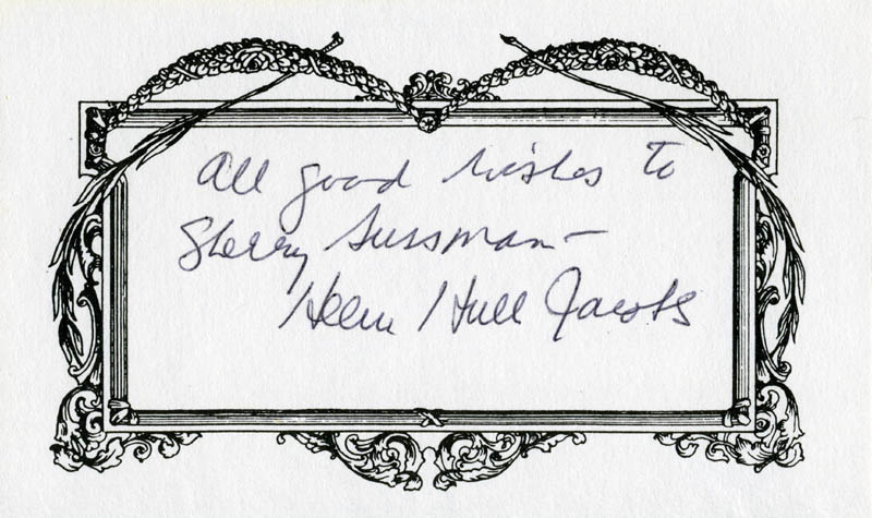 Image 1 for Helen Hull Jacobs - Inscribed Signature - HFSID 209169