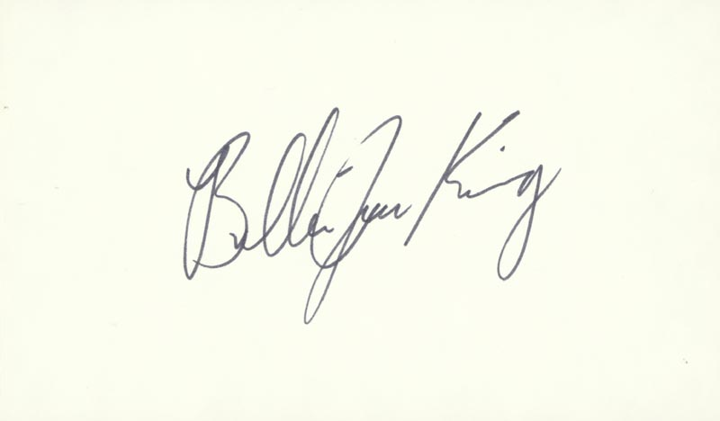 Image 1 for Billie Jean King - Autograph - HFSID 209172