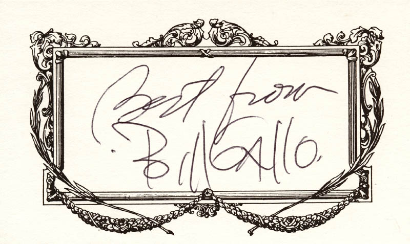Image 1 for Bill Gallo - Autograph Sentiment Signed - HFSID 209321