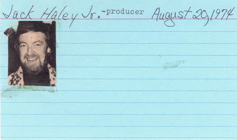 Image 3 for Jack Haley Jr. - Autograph Sentiment Signed Circa 1974 - HFSID 209380