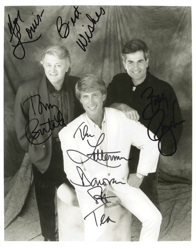 Image 1 for The Lettermen - Autographed Signed Photograph with co-signers - HFSID 210024