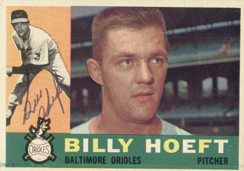 Image 1 for Billy Hoeft - Trading/Sports Card Signed - HFSID 21059