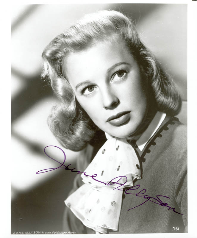 Image 1 for June Allyson - Autographed Signed Photograph - HFSID 210768