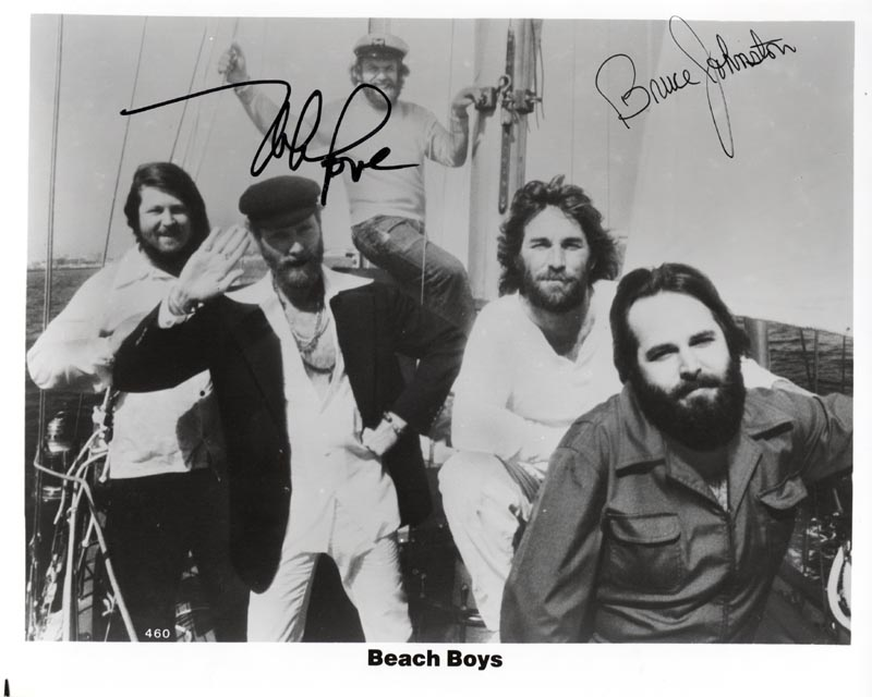 Image 1 for The Beach Boys - Autographed Signed Photograph co-signed by: The Beach Boys (Mike Love), The Beach Boys (Bruce Johnston) - HFSID 210955
