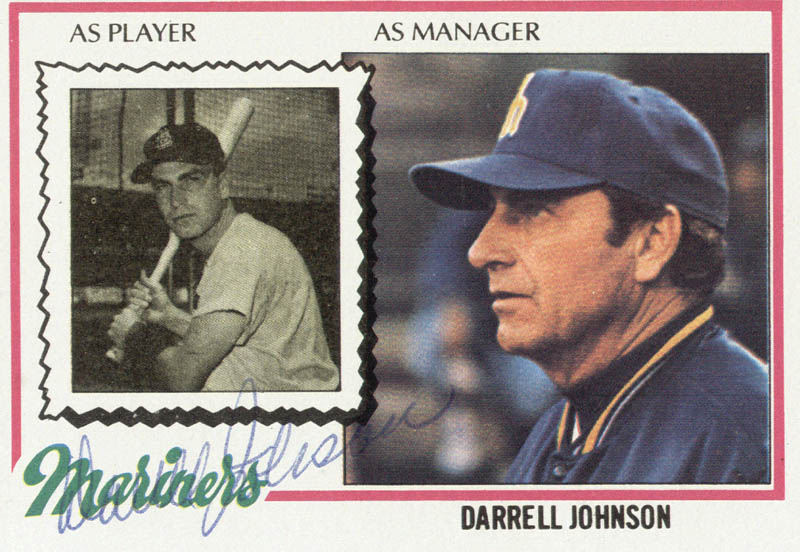 Image 1 for Darrell Johnson - Trading/Sports Card Signed - HFSID 21121