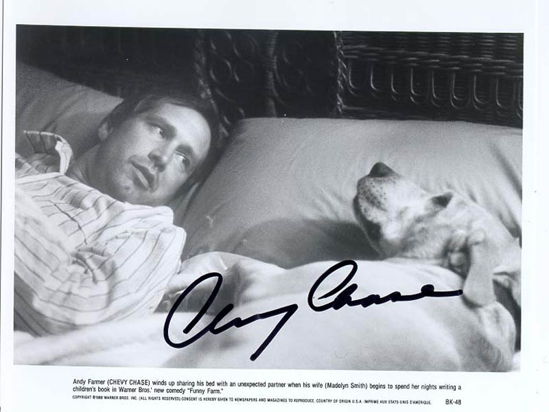 Image 1 for Chevy Chase - Autographed Signed Photograph - HFSID 211278