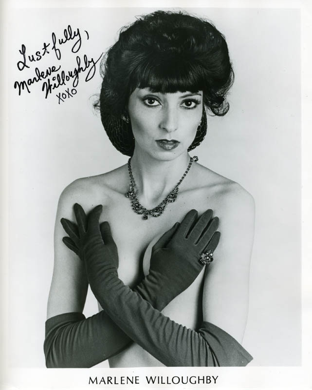 Marlene Willoughby Porn - MARLENE WILLOUGHBY - PRINTED PHOTOGRAPH SIGNED IN INK - HFSID 211379