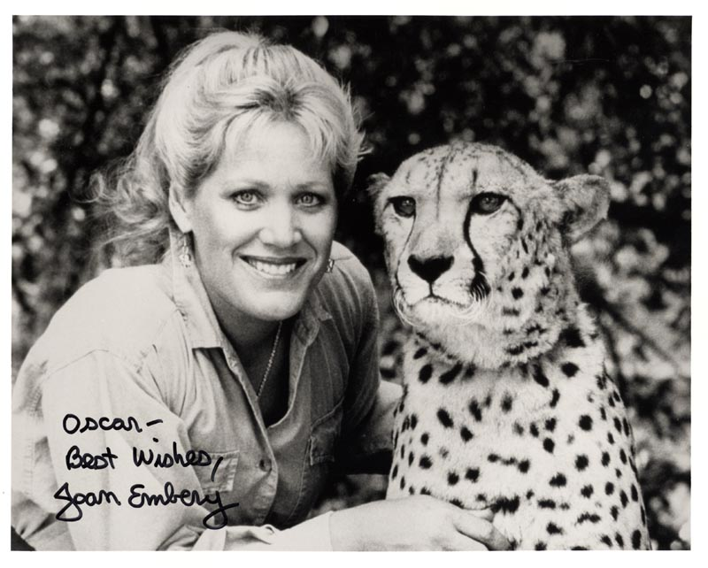 Image 1 for Joan Embery - Autographed Inscribed Photograph - HFSID 211540