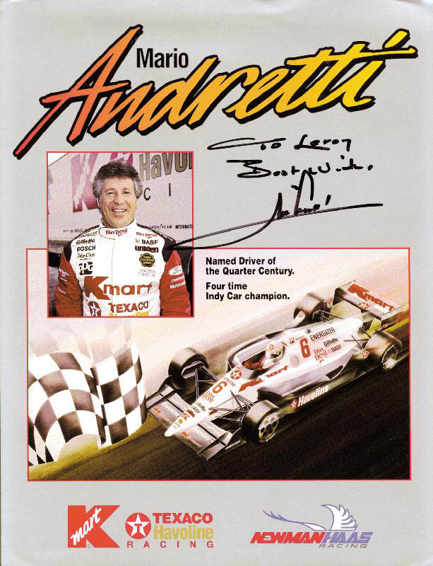 Image 1 for Mario Andretti - Inscribed Advertisement Signed - HFSID 211684