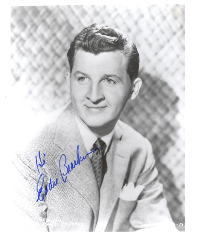Image 1 for Eddie Bracken - Autographed Signed Photograph - HFSID 211838