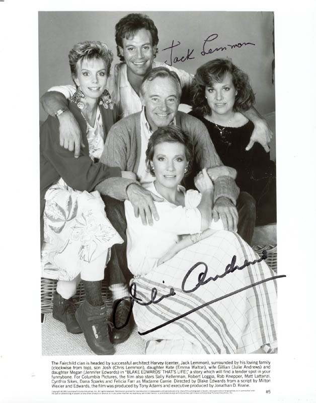 Image 1 for That'S Life Movie Cast - Autographed Signed Photograph co-signed by: Julie Andrews, Jack Lemmon - HFSID 211928