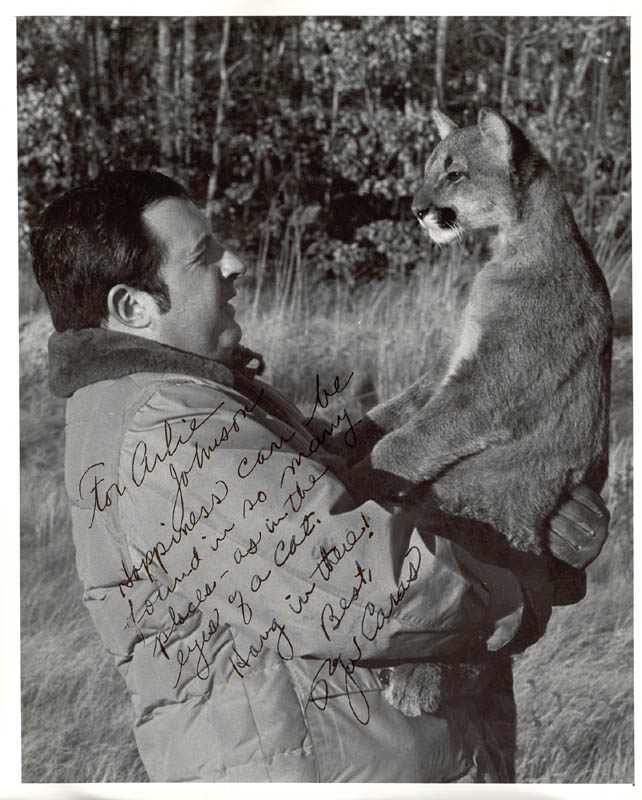 Image 1 for Roger Caras - Autograph Note On Photograph Signed - HFSID 212203