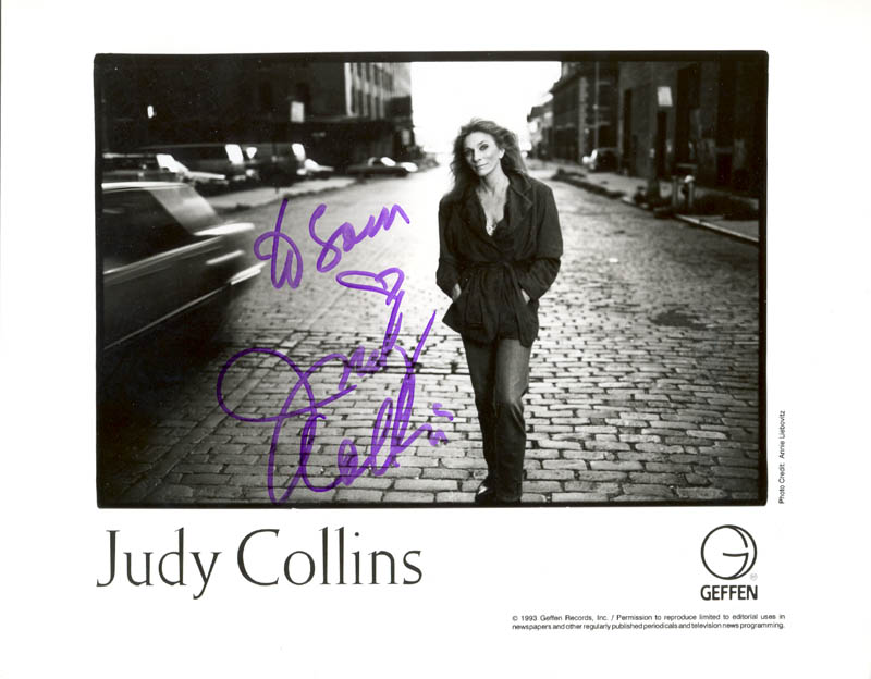 Image 1 for Judy Collins - Autographed Inscribed Photograph - HFSID 212881