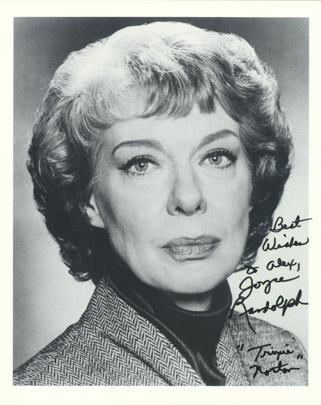 Image 1 for Joyce Randolph - Autographed Inscribed Photograph - HFSID 213551