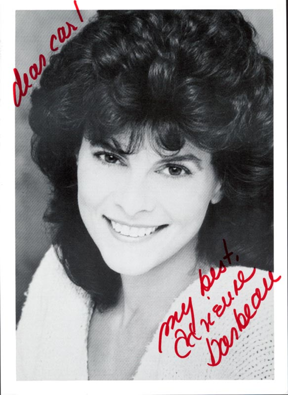 Image 1 for Adrienne Barbeau - Autographed Inscribed Photograph - HFSID 213648