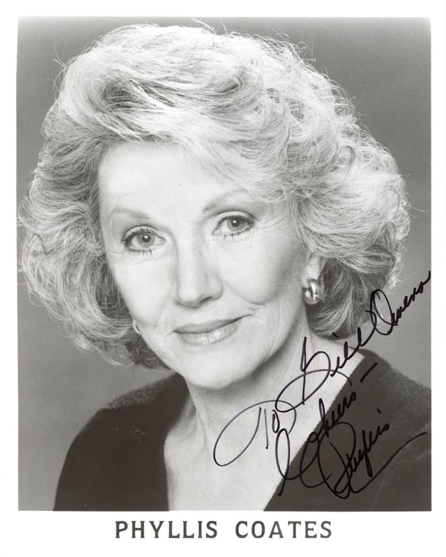Image 1 for Phyllis Coates - Autographed Inscribed Photograph - HFSID 213915