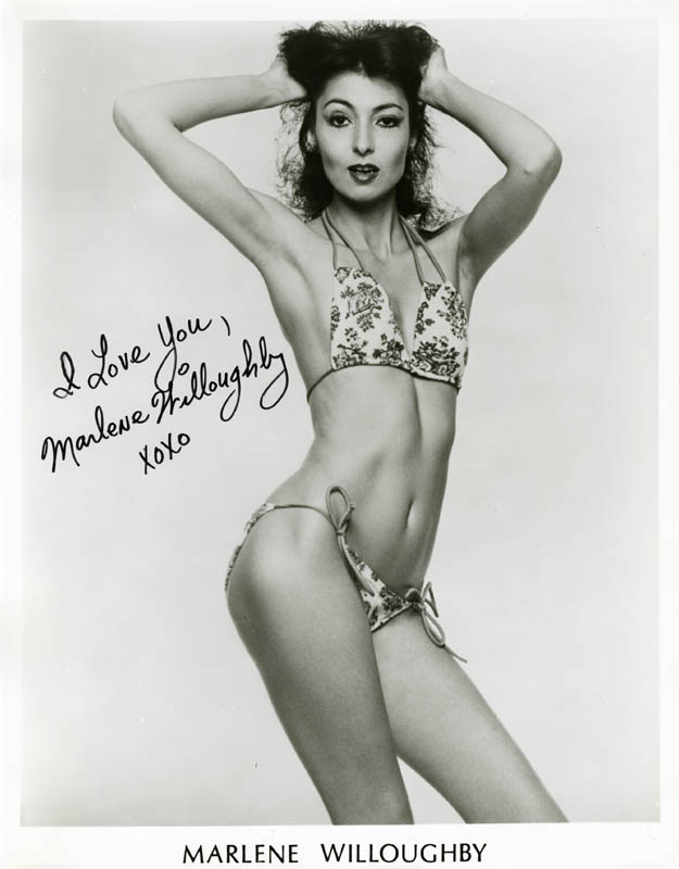 Marlene Willoughby Porn - MARLENE WILLOUGHBY - PRINTED PHOTOGRAPH SIGNED IN INK - HFSID 214191